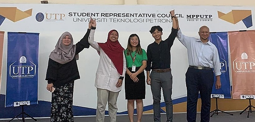 UTP Campus Election 2020 candidates on stage